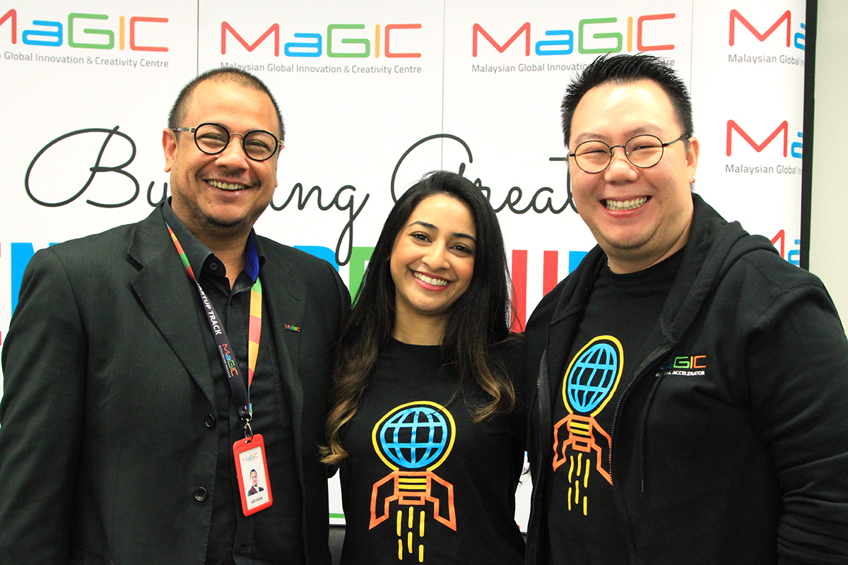 From left: Ashran Dato Ghazi, CEO of MaGIC, Tanuja Rajah, Program Manager at MaGIC, and Jonathan Lee, Executive Director at MaGIC