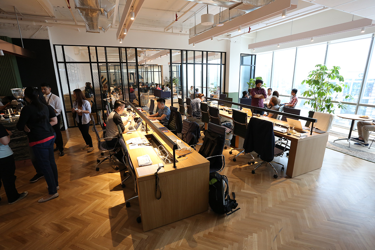 Hot desks at Common Ground are complemented by office spaces and lounges areas