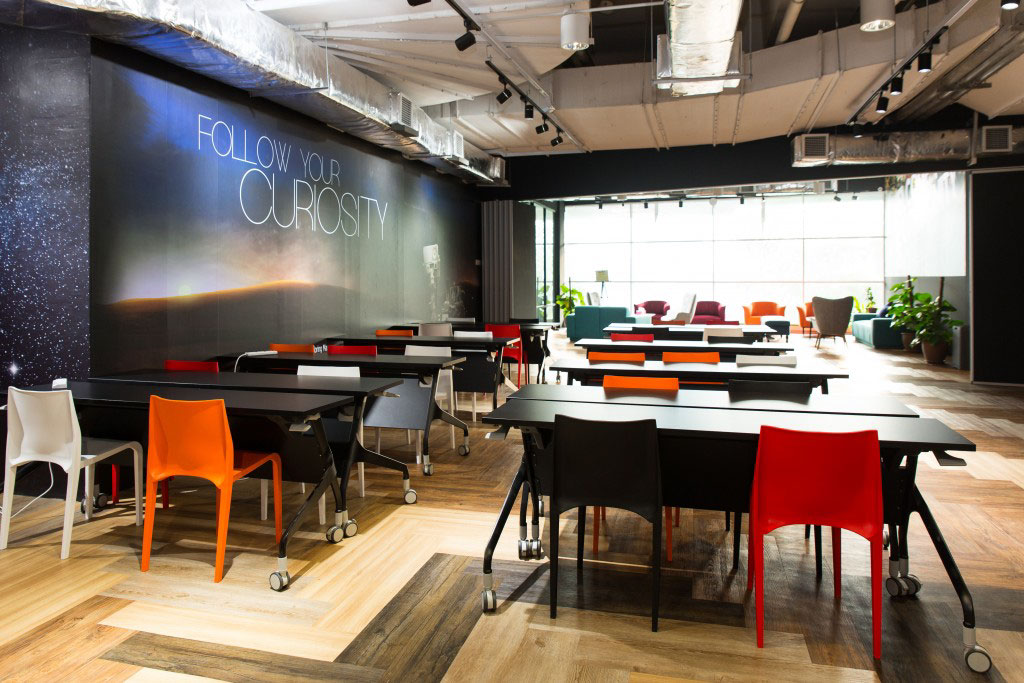"""Event spaces at WORQ hold such gatherings as sponsored """"Happy Hour"""" events and knowledge-sharing sessions."""