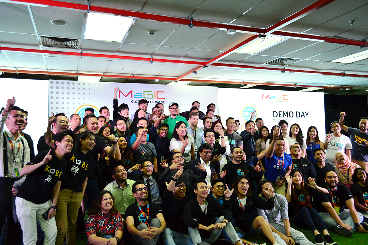 Startups from around the world at the end of Demo Day at MaGIC 2017 in Kuala Lumpur.