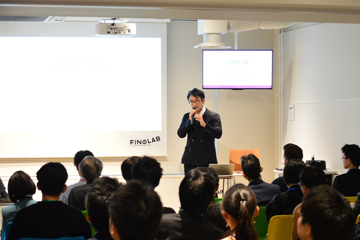 Nobuyuki Oosumi, the CEO of Japan-based RPA Technologies Inc., was a guest speaker at addlight Inc.'s event series Trend Note Camp.