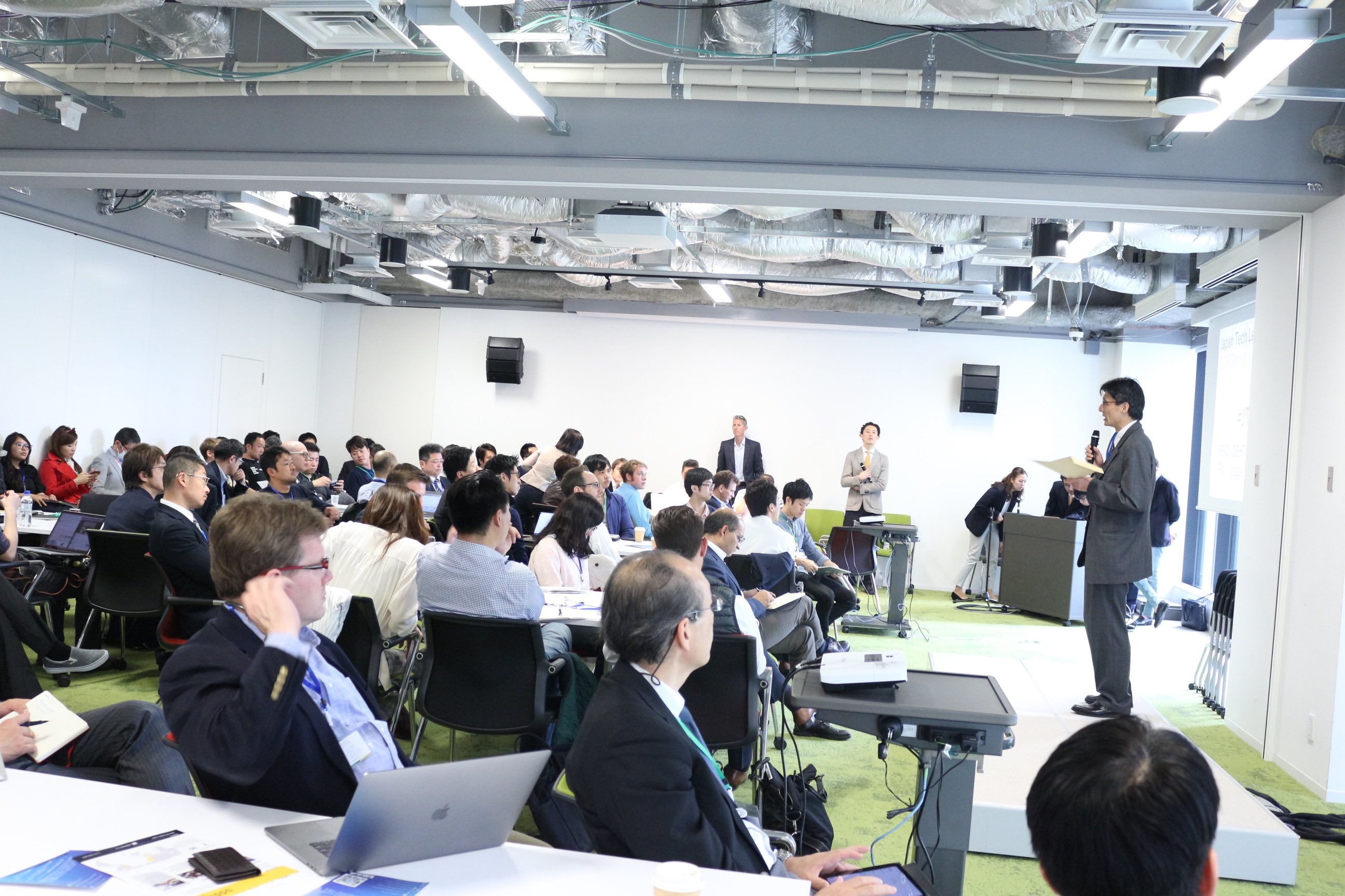 Takayuki Sumita, the Secretary-General of the Intellectual Property Headquarters at the Cabinet office, speaking at Japan Tech Leaders Summit.