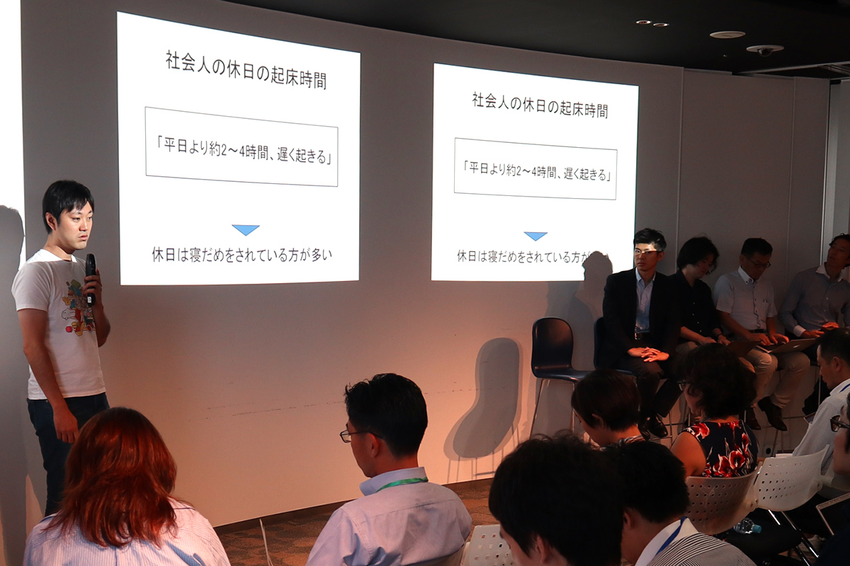 Dr. Yoshiki Ishikawa, an expert in preventive medicine, speaking at addlight Inc.'s event, Mirai Salon #9.