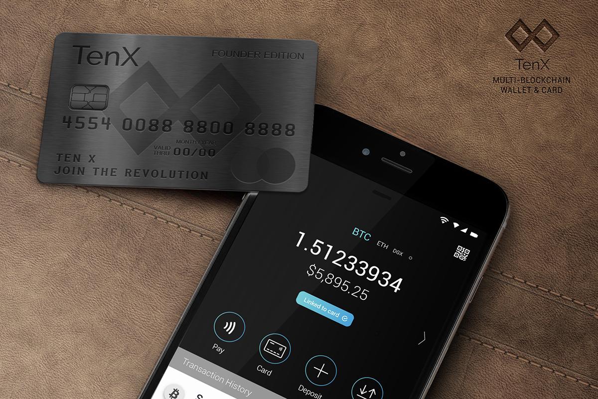 TenXのデビット・カードはモバイル端末と同期でき、ユーザーはカードでの支払いと端末での支払いを切り替えることができる