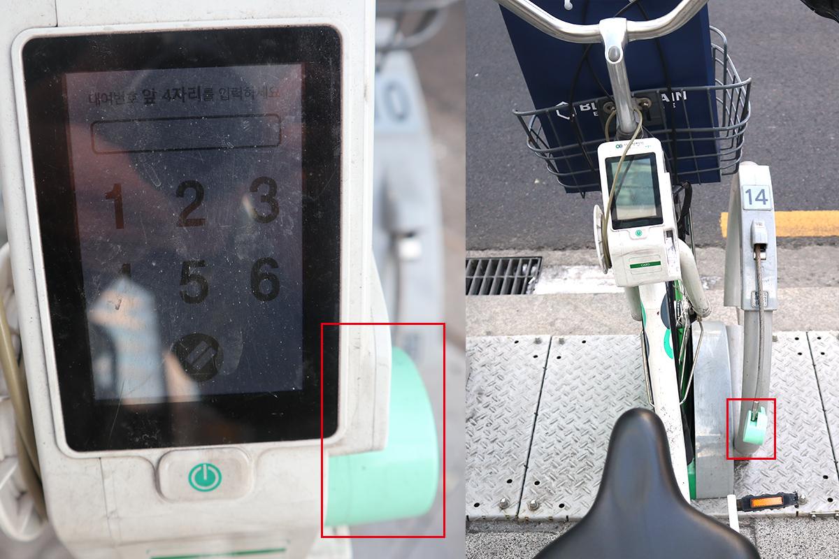 タンルイ:最寄りのステーションに駐輪している自転車のパネルを操作し、発行された番号を入力するとロックが外れる仕組みとなっている。