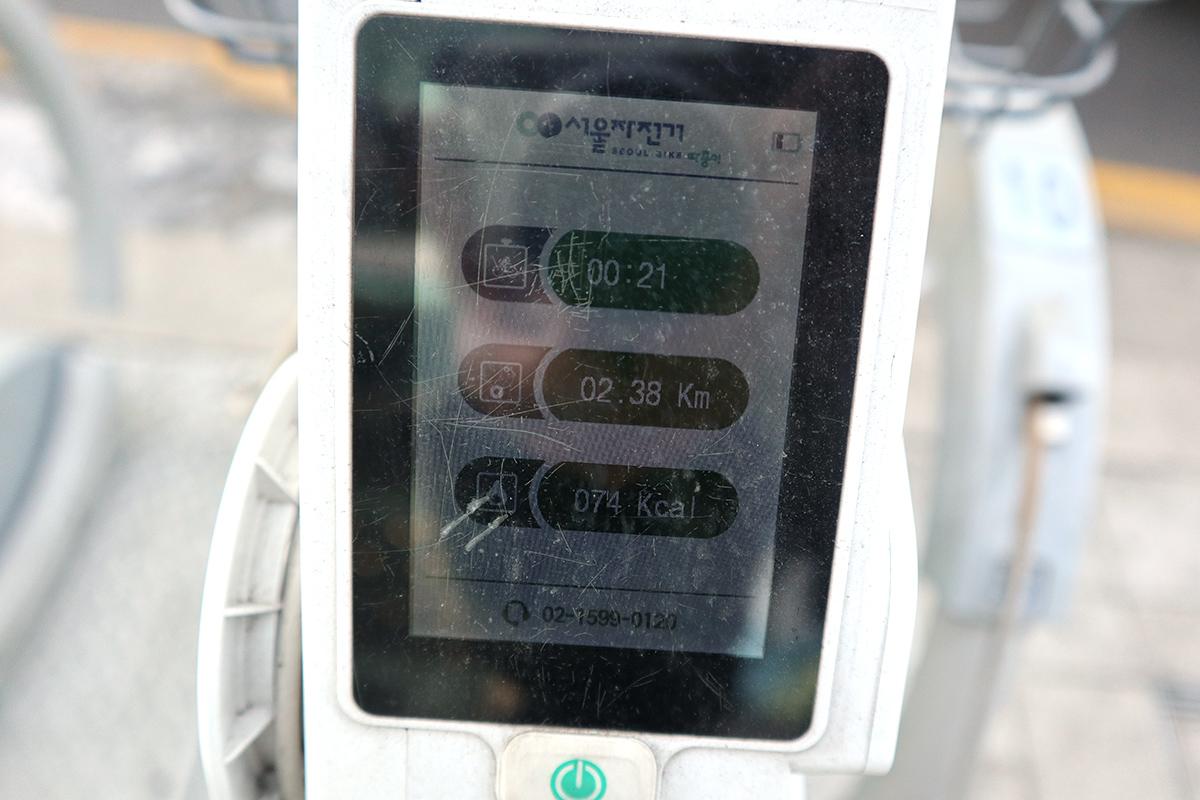 タンルイ:返却後は利用時間、利用距離、消費カロリーなどが表示される。