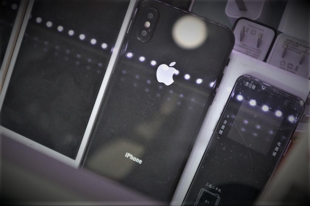 縦に配置された特徴的なデュアルレンズ。 iPhoneのフォントと音量ボタンの出っ張りがやや気になる…