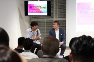 FutuRocket株式会社(フューチャーロケット)代表取締役 美谷広海氏、World innovations Forum Japan AMBASSADOR(日本代表)  Christian Schmitz氏